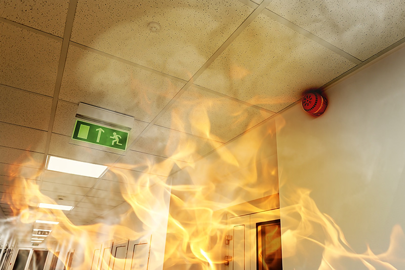 a fire in a workplace